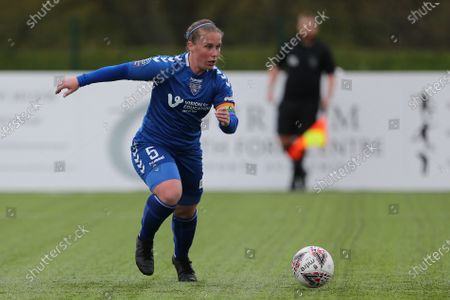 Sarah WILSON  of Durham Women  during the FA Women's Championship match between Durham Women FC and Coventry United at Maiden Castle, Durham City, England on 2nd May 2021.