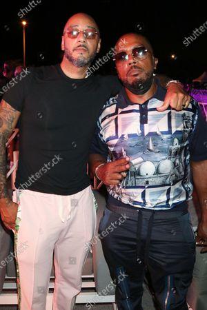 Swizz Beatz and Timbaland at Trillerfest Miami at Miami Marine Stadium