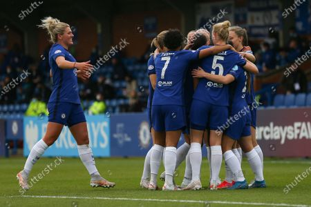 Millie Bright (#4 Chelsea) joins the celebrations