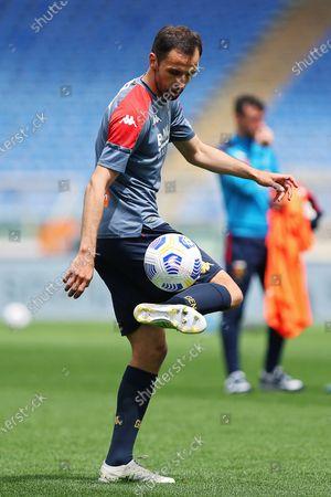 Stock Image of Milan Badelj of Genoa warming up