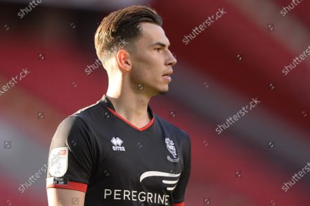 Lewis Montsma of Lincoln City in action during Sky Bet League One match between Charlton Athletic and Lincoln City at The Valley in London - 4th May 2021
