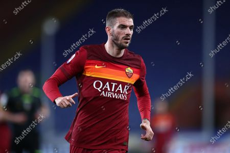 Davide Santon of As Roma looks on during the Serie A match between Uc Sampdoria and As Roma at Stadio Luigi Ferraris on May 2 2021 in Genova, Italy.