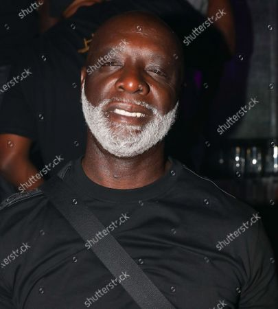 Stock Picture of Edrin James, Clay, Mike Gardner and Peter Thomas at LIV nightclub at Fontainebleau Miami Beach, Florida.