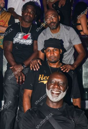 Stock Photo of Edrin James, Clay, Mike Gardner and Peter Thomas at LIV nightclub at Fontainebleau Miami Beach, Florida.