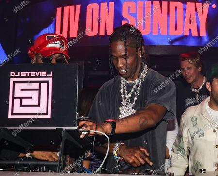 Travis Scott at LIV nightclub at Fontainebleau Miami Beach, Florida.