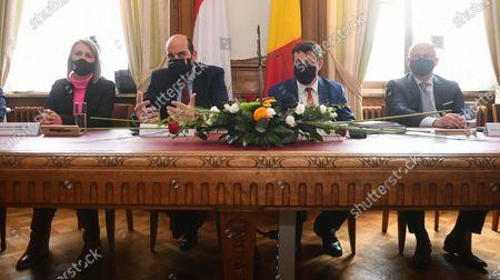 Editorial image of Tournai Signing New Justice Palace, Tournai, Belgium - 03 May 2021