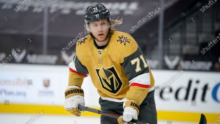 Vegas Golden Knights center William Karlsson (71) plays against the Colorado Avalanche in an NHL hockey game, in Las Vegas