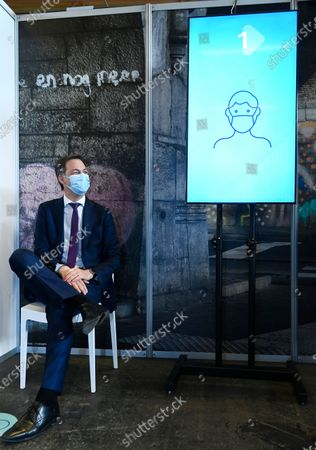 Editorial photo of Belgian Prime Minister visits vaccination center, Gent, Belgium - 03 May 2021