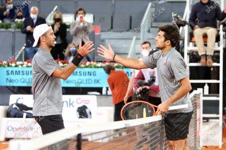 Fernando Verdasco of Spain and Cristian Garin of Chile