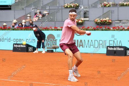 Grigor Dimitrov of Bulgaria in action