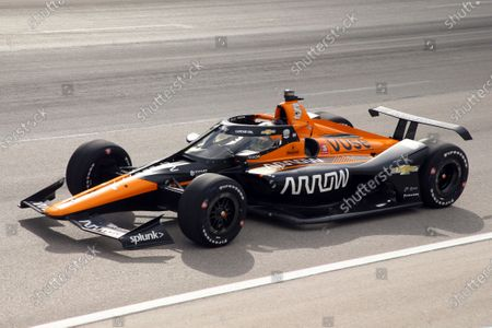 Pato O'Ward competes during an IndyCar Series auto race at Texas Motor Speedway, in Fort Worth, Texas