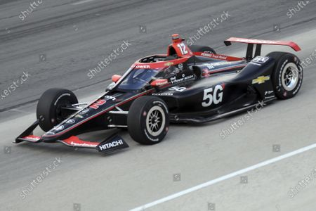 Stock Photo of Will Power competes during an IndyCar Series auto race at Texas Motor Speedway, in Fort Worth, Texas