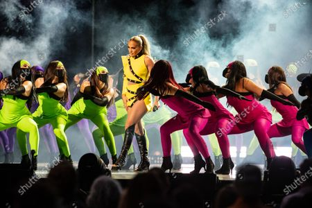 Stock Picture of Jennifer Lopez performs at the Vax Live concert at SoFi Stadium on Sunday, May 2, 2021 in Inglewood, CA. (Jason Armond / Los Angeles Times)