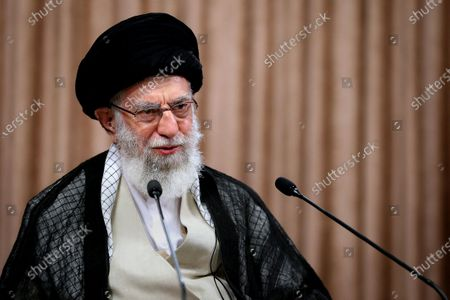 """Iran's Supreme Leader Ayatollah Ali Khamenei giving a live telespeech in the capital Tehran. Iran's leader slammed as a """"big mistake"""" leaked remarks by his foreign, a week after audio anminister of the diplomat bemoing the military's influence on diplomacy. Top diplomat Mohammad Javad Zarif made the remarks in a three-hour conversation first published by media outlets outside the country a week ago, provoking anger from conservatives."""