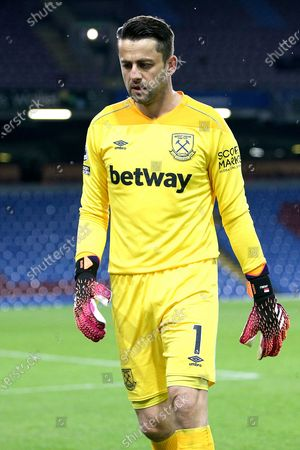 West Ham United goalkeeper Lukasz Fabianski (1) during the Premier League match between Burnley and West Ham United at Turf Moor, Burnley