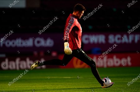 Burnley's goalkeeper Nick Pope warms up for the English Premier League soccer match between Burnley FC and West Ham United in Burnley, Britain, 03 May 2021.
