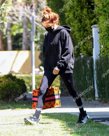Zoey Deutch is seen leaving Pilates in West Hollywood