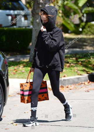 Stock Photo of Zoey Deutch is seen leaving Pilates in West Hollywood