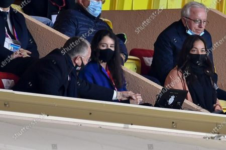 JEAN MICHEL AULAS and his wife Alizé Lim, Tony Parker