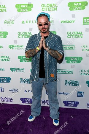 J Balvin attends Global Citizen VAX LIVE: The Concert To Reunite The World at SoFi Stadium in Inglewood, California. Global Citizen VAX LIVE: The Concert To Reunite The World will be broadcast on May 8, 2021.