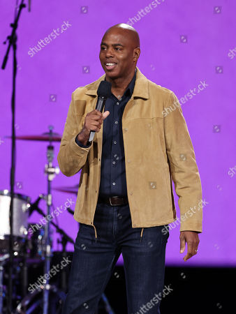 Kevin Frazier speaks onstage during Global Citizen VAX LIVE: The Concert To Reunite The World at SoFi Stadium in Inglewood, California. Global Citizen VAX LIVE: The Concert To Reunite The World will be broadcast on May 8, 2021.
