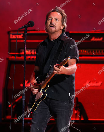 Eddie Vedder performs onstage during Global Citizen VAX LIVE: The Concert To Reunite The World at SoFi Stadium in Inglewood, California. Global Citizen VAX LIVE: The Concert To Reunite The World will be broadcast on May 8, 2021.