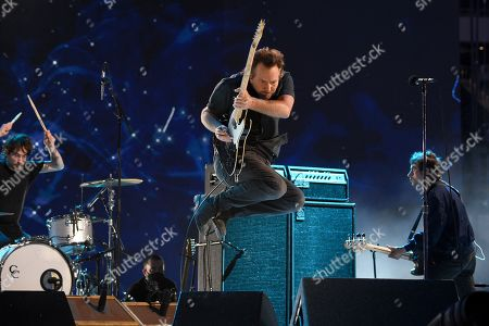 Stock Picture of Eddie Vedder performs onstage during Global Citizen VAX LIVE: The Concert To Reunite The World at SoFi Stadium in Inglewood, California. Global Citizen VAX LIVE: The Concert To Reunite The World will be broadcast on May 8, 2021.