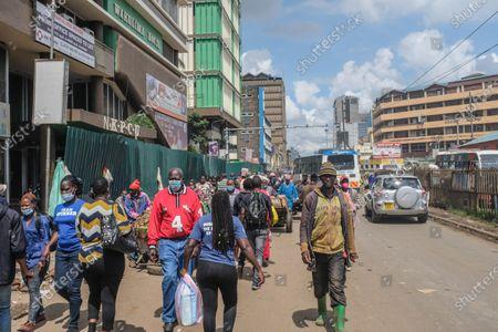 Editorial photo of Public transport commences in Nairobi, Kenya - 3 May 2021