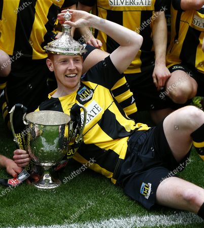 Michael Richardson of Hebburn Town with Trophy during  The 2019/2020 Buildbase FA Vase Final between Consett and Hebburn at Wembley Stadium on 03rd May , 2021 in London, England