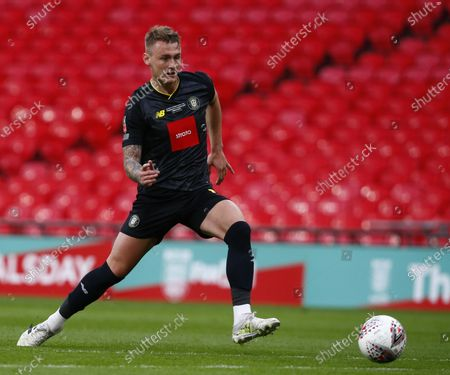 Will Smith of Harrogate Town  during  The 2019/2020 Buildbase FA Trophy Final between Concord Rangers and Harrogate Town at Wembley Stadium on 03rd May , 2021 in London, England