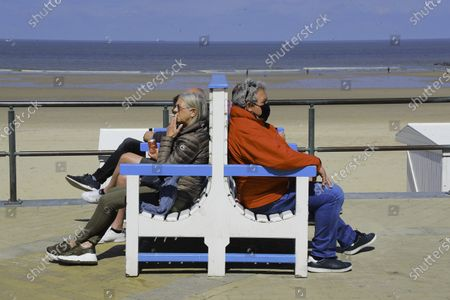 Stock Photo of Mayor of Middelkerke, Jean-Marie Dedecker, declared terraces of bars and restaurant public domain in order to bypass current Belgian covid-19 lock-down rules. Eating or drinking on a terrace is still forbidden, doing the same on public domain is not