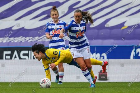 Natasha Harding (Reading 11) runs with ball during the Barclays FA Womens Super League game between Reading and Brighton & Hove Albion at The Madejski Stadium in Reading.