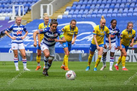 Stock Picture of Fara Williams (Reading 4) runs up to take penalty during the Barclays FA Womens Super League game between Reading and Brighton & Hove Albion at The Madejski Stadium in Reading.