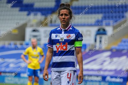 Fara Williams (Reading 4) during the Barclays FA Womens Super League game between Reading and Brighton & Hove Albion at The Madejski Stadium in Reading.