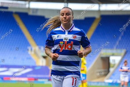 Natasha Harding (Reading 11) during the Barclays FA Womens Super League game between Reading and Brighton & Hove Albion at The Madejski Stadium in Reading.
