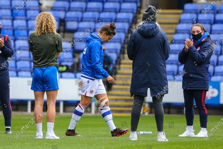 Fara Williams (Reading 4) last game for Reading during the Barclays FA Womens Super League game between Reading and Brighton & Hove Albion at The Madejski Stadium in Reading.