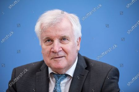 German Interior Minister Horst Seehofer speaks to the media to present the 2020 report of politically motivated crime in Berlin, Germany, 04 May 2021. 2020 saw the highest level of politically-motivated crime in Germany since 2001, with over 44,000 registered cases that include right-wing, left-wing, Reichsbuerger, Islamist and other radical groups and individuals.