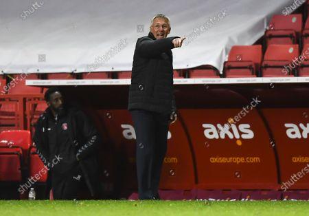 Nigel Adkins manager of Charlton Athletic