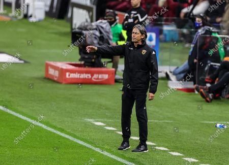 Stock Image of Head Coach of Benevento Calcio Filippo Inzaghi gestures