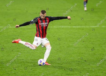 Ante Rebic of AC Milan in action