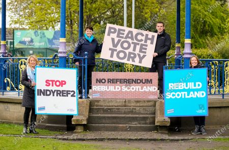 Editorial photo of Scottish Conservative Party campaigning, Edinburgh, Scotland, UK - 04 May 2021