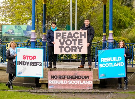 Editorial image of Scottish Conservative Party campaigning, Edinburgh, Scotland, UK - 04 May 2021