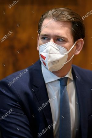 Editorial image of Slovak Prime Minister Eduard Heger in Austria, Vienna - 04 May 2021
