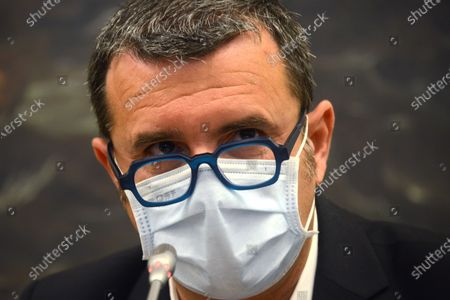 Stock Image of Gian Marco Centinaio, undersecretary of Mipaaf and responsible for agriculture Lega