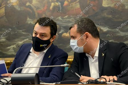 Stock Picture of Matteo Salvini (left) and Gian Marco Centinaio (right)