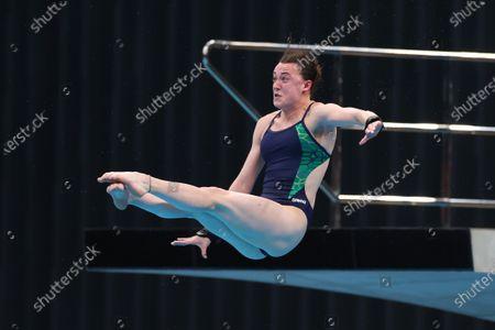 Stock Image of Women's 10M Platform Preliminaries. Ireland's Ciara McGing
