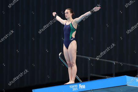 Women's 10M Platform Preliminaries. Ireland's Ciara McGing