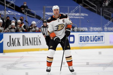 Stock Picture of Anaheim Ducks' Ryan Getzlaf (15) in action against the St. Louis Blues during the first period of an NHL hockey game, in St. Louis