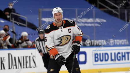 Stock Image of Anaheim Ducks' Ryan Getzlaf (15) in action against the St. Louis Blues during the first period of an NHL hockey game, in St. Louis