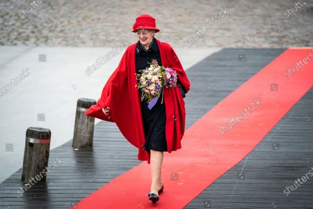 Queen Margrethe II. of Denmark arrives to officially board the Royal Yacht 'Dannebrog' in the Port of Copenhagen, Denmark, 04 May 2021. This year's royal trip by ship will bring the Danish Queen to Greenland, Faroe Islands and other destinations.